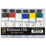 Richeson Shiva Signature Artist Oil Colors Basic Set of 6 - Assorted Colors