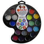Ruby Red Face & Body Paint Artist Palette - Set of 16