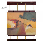 Rue Wall Display & Painting Easel Large- 48in Wide-Canvases up to 60in High - Mahogony