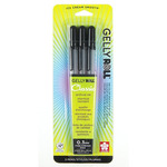 Sakura Gelly Roll Pen Set of 3 0.3mm Fine Point - Black