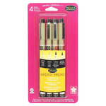Sakura Pigma Micron Pen Set of 4 Assorted Tips - Sepia