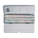 Schmincke Horadam Watercolor Half Pan Metal Box Set of 24 Colors