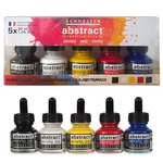 Sennelier Abstract Acrylic Ink 30ml Set, Primary 5 Colors