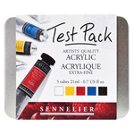 Sennelier Extra Fine Artist Acrylics Test Pack Assorted Colors 21 ml (Pack of 5)