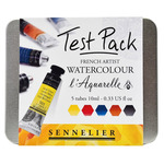 Sennelier L'Aquarelle 10ml French Artists' Watercolors Test Pack of 5