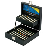 Sennelier Oil Painting Sticks - Half Sticks Set Of 24 in Black Wood Box