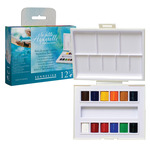Sennelier La Petite Aquarelle Watercolor Travel Set Assorted Colors HalfPan (Set of 12)