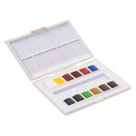Sennelier La Petite Aquarelle Watercolor Travel Set Assorted Colors HalfPan (Set of 12)