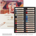 Sennelier Oil Pastels Set of 24 Portrait Colors Cardboard Box Standard