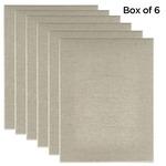 "Senso Clear Primed Linen 3/4"" Box of Six 8x10"""