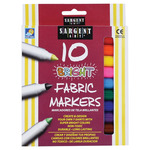 Sargent Art Washable Fabric Marker Set of 10 Bright Colors