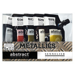 Sennelier Abstract Acrylics Set Of 5 Metallic Colors 120ml
