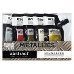 Sennelier Abstract Acrylics Set Of 5 Metallic Colors 120ml