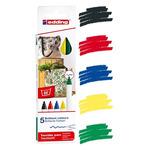 Edding 4600 Textile Pen Pack of 5 Basic Colors