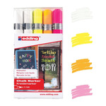Edding 4095 Chalk Marker Pack of 5 Round Assorted Colors