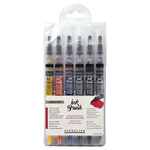 Sennelier Watercolor Ink Brush 6.5ml Set of 6 Iridescent Colors