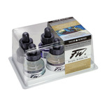 Daler-Rowney FW Acrylic Ink Shimmering Set of 6 1 oz Bottles - Shimmering Colors