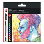 Marabu Graphix Permanent Marker Significant Colors Set of 12