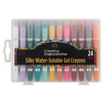 Creative Inspirations Silky Water-Soluble Crayons Set of 24
