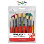Silver Brush Silver Stencil Brush Sets