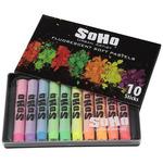SoHo Urban Artist Soft Pastel Set of 10 Fluorescent Colors