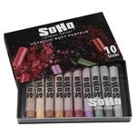SoHo Urban Artist Soft Pastel Set of 10 Metallic Colors