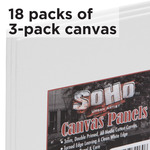 Soho Canvas Panels Value Pack of 18 X 3 Packs 4X6in