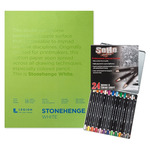 SoHo Colored Pencil and Stonehenge Paper Pad Value Set Beginner Drawing Sets