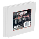 SoHo Urban Artist 8x8in Cotton Canvas Panel 3Pack