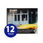 12-Pack Soho Grey Palette Paper Pad 1216 Retangular