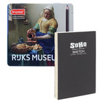 Bruynzeel 24ct Milkmaide Tin Set & Soho 5.6x8.26 White Sketchbook