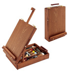 Deluxe Table Easel and Sketch Box Walnut Finish, Soho