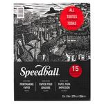 Speedball Printmaking Paper Pad 15 Sheets 11X14 In