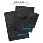 Stonehenge Aqua ColdPress Black Heavy Paper