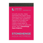 Stonehenge Mini Aqua Watercolor 140 Hot Press 2.5x3.75 Pad 10 Sheets