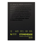 Stonehenge Aqua Watercolor 140 lb Cold Press 15-Sheet Pad 5 x 7 in Black