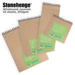 Stonehenge White Wirebound Journals By Legion