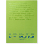 Stonehenge White Drawing & Printmaking Paper Pad (250 gsm) Vellum Finish, 15 Sheets 18X24