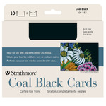 "Pack of 10 5"" x 6.875"" Coal Black Artist Cards & Envelopes"