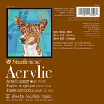 """Strathmore 400 Series Acrylic Pad 6x6"""" Square 10 Sheets"""