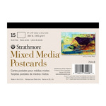 Strathmore Mixed Media 4X6 Postcard Pad Of 15 Sheets