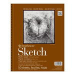 """Strathmore 400 Series Sketch Pad 5-1/2"""" x 8 -1/2"""" (100 Sheets Fine Tooth)"""