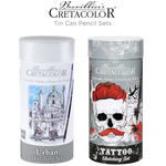 Cretacolor Cylinder Tin Can Pencil Sets