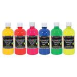Sargent Art Art-Time Tempera 16 oz Set of 6 Flourescent Colors