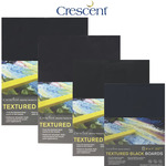 Crescent Textured Black Art Boards