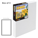 "The Edge Professional Cotton Canvas 8x8"" 1-1/2"" Deep Box of 3"