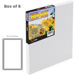 The Edge Professional Cotton Stretched Canvas 3/4In Depth 5X7in Box of 6