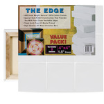 "The Edge All Media Small Square Cotton Deluxe Stretched Canvas 1-1/2"" Deep"