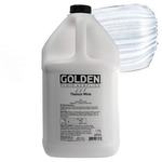 GOLDEN Fluid Acrylics Titanium White 1 gallon