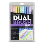 Tombow Dual Brush Pen Set Of 10 - Pastel Colors